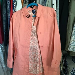 Gap trench coat peach spring small